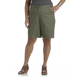 Basic Editions Women's Plus Embellished Bermuda Shorts at Kmart.com