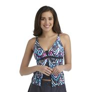 Free Country Women's Flyaway Tankini Swim Top - Abstract Tribal at Sears.com