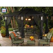 Grand Resort 10 Ft. x 12 Ft.  Aluminum Roof Gazebo with LED Post Lights at Sears.com