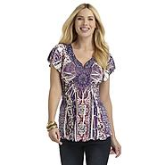 Covington Woman's Short-Sleeve Tunic Top - Medallions at Sears.com