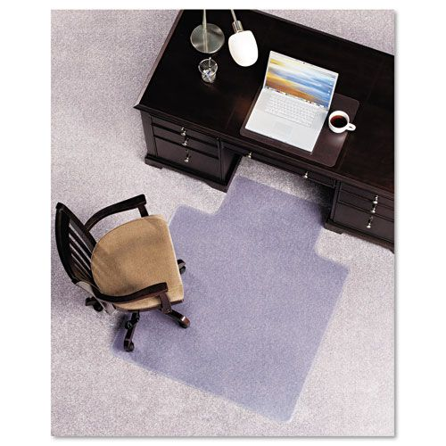 E.S. Robbins Anchormat Chair Mat for Plush Carpets, 45w x 53h