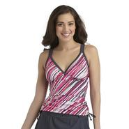 Free Country Women's Double-Strap Tankini Swim Top - Diagonal Stripes at Sears.com