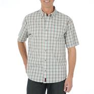 Wrangler Men's Big & Tall Short-Sleeve Button-Front Shirt - Plaid at Kmart.com