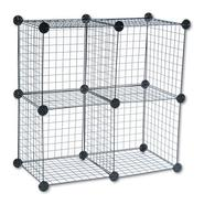 Safco Wire Cube Shelving System, 15w x 15d x 15h, Black at Sears.com