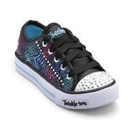 Skechers Girl's Twinkle Toes Gimme Glam Black/Pink Light-Up Sneaker - Animal Print at Sears.com