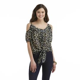 Bongo Junior's Chiffon Cold-Shoulder Top - Floral at Sears.com