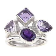 Ladies Sterling Silver Multi-Colored Gemstone Ring at Kmart.com