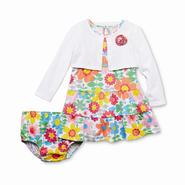WonderKids Infant & Toddler Girl's Long-Sleeve Shrug & Tank Dress - Floral at Kmart.com