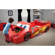 Delta Childrens Disney Cars Convertible Toddler to Twin Bed with Lights and Toy Box at Sears.com