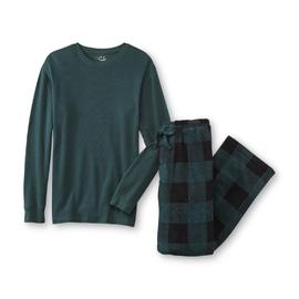 Joe Boxer Men's Thermal Shirt & Plush Pants Set - Checkered at Kmart.com