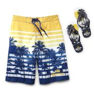 Corona Men's Big & Tall Swim Trunks & Flip-Flops at Kmart.com