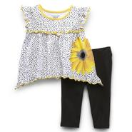 WonderKids Infant & Toddler Girl's Tunic Top & Leggings - Sunflower at Kmart.com