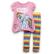 My Little Pony Toddler Girl's Tunic & Leggings - Rainbow Dash at Kmart.com