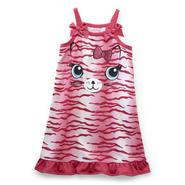 Joe Boxer Toddler Girl's Sleeveless Nightgown - Zebra-Striped Kitten at Kmart.com