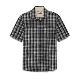 Wrangler Men's Short-Sleeve Button-Front Shirt - Plaid at Kmart.com