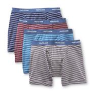 Fruit of the Loom Men's Underwear 4 Pack Boxer Briefs Cotton Blend Striped Low Rise Multicolor at Sears.com