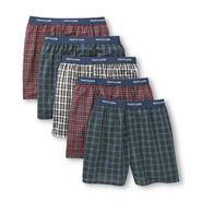 Fruit of the Loom Men's Underwear 5 Pack Boxers Cotton Blend Low Rise Plaid Multicolor at Sears.com