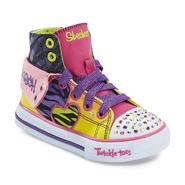 Skechers Toddler Girl's Twinkle Toes Shuffles Wildlights Multicolor Light-Up High-Top Sneaker at Sears.com