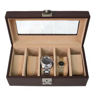 Royce Leather 5 Slot Watch Box at Kmart.com