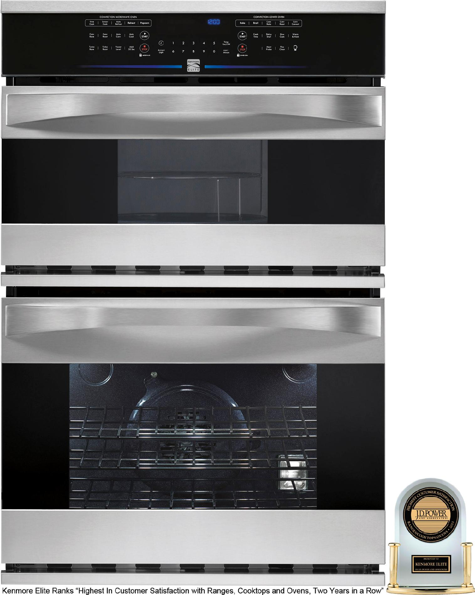 Kenmore Elite Electric Combination Wall Oven Flexibility