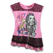 Monster High Girl's Ruffle Tunic Top - Frankie Stein at Kmart.com