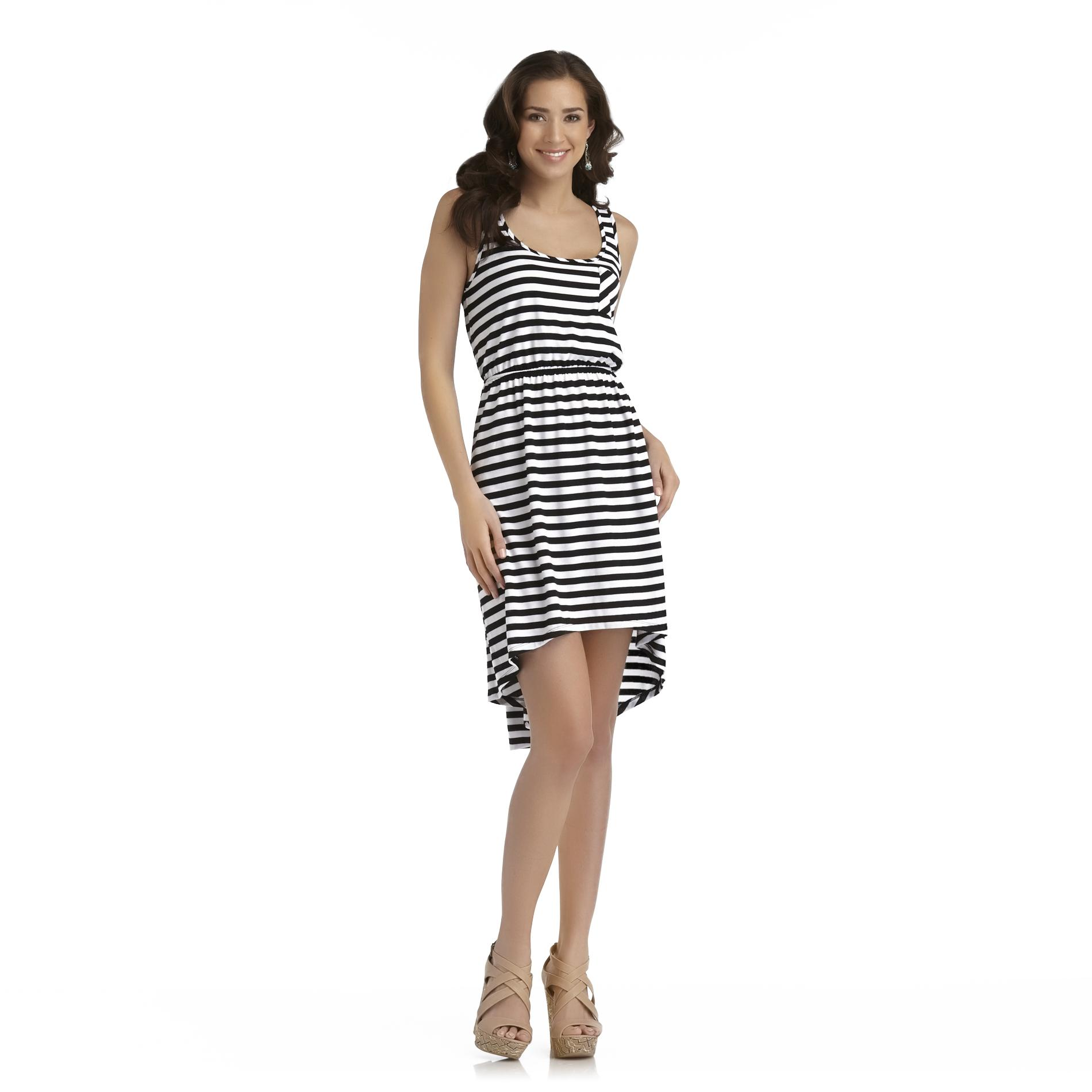 Joe by Joe Boxer Women's High-Low Tank Dress - Striped at Sears.com
