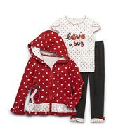 Young Hearts Infant & Toddler Girl's Jacket, Top & Pants - Love Bug at Sears.com