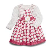 Youngland Infant & Toddler Girl's Dress & Shrug - Dotted at Sears.com