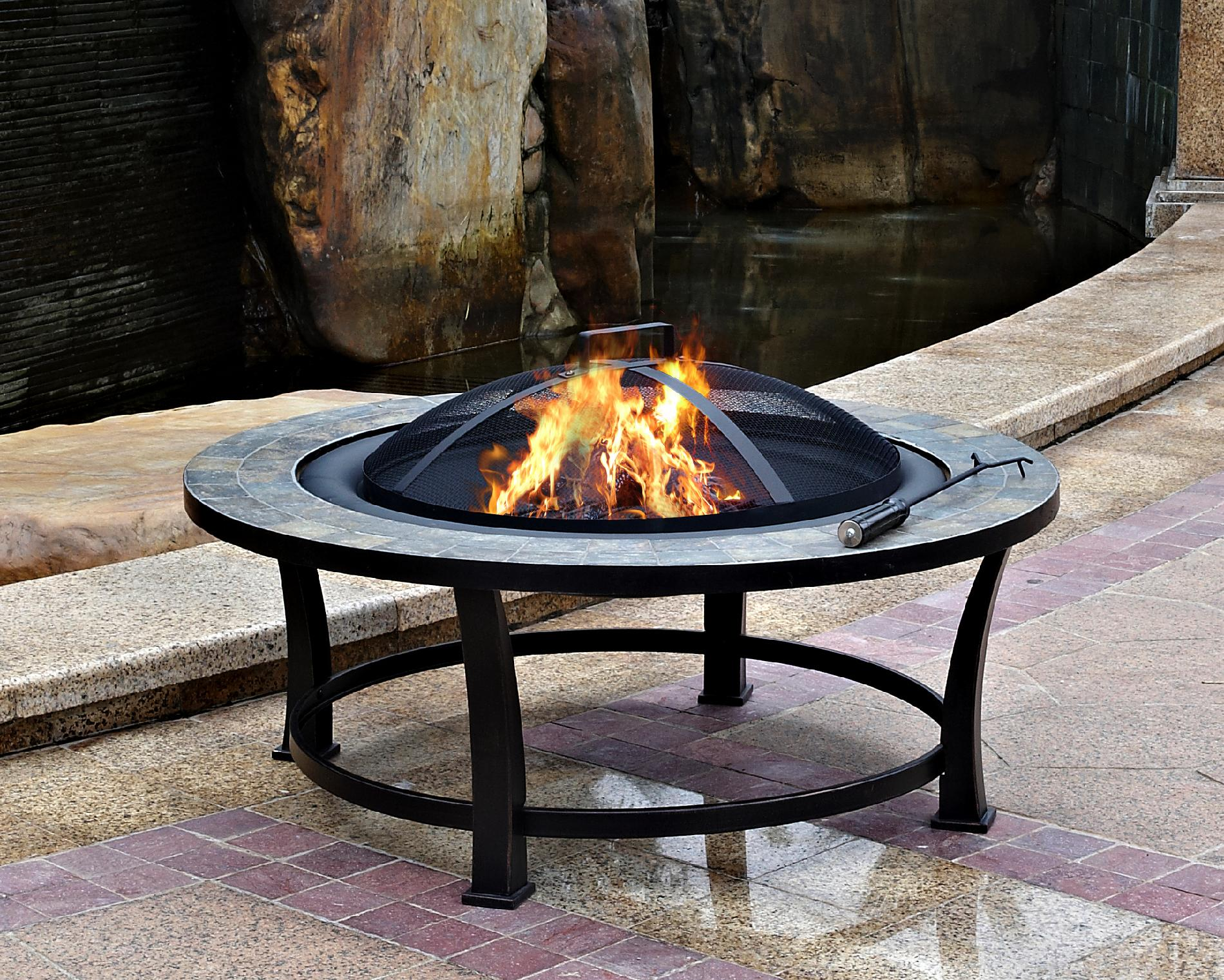 "Garden Oasis 40"" Round Slate Top Fire Pit Table PartNumber: 028W006134267001P KsnValue: 028W006134267001 MfgPartNumber: FTB-51216"