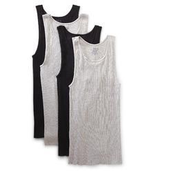 Fruit of the Loom Men's Big & Tall A-Shirts - 4-Pk Black/Gray Size 2X at Kmart.com