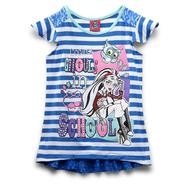 Monster High Girl's High-Low Tunic - Lace & Stripes at Kmart.com