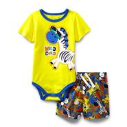 Small Wonders Newborn Boy's Bodysuit & Shorts - Wild Child at Kmart.com