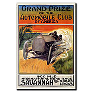 "Trademark Fine Art 35x47 inches ""Grand Prize of the Automobile Club of America"" by Malcolm A at Sears.com"