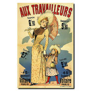 """Trademark Fine Art 18x24 inches """"Aux Travalleurs"""" by Alfred Choubrac at Kmart.com"""