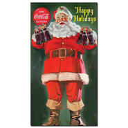 "Trademark Fine Art 13x24 inches ""Santa Holding 6 pack of Coca Cola"" at Sears.com"