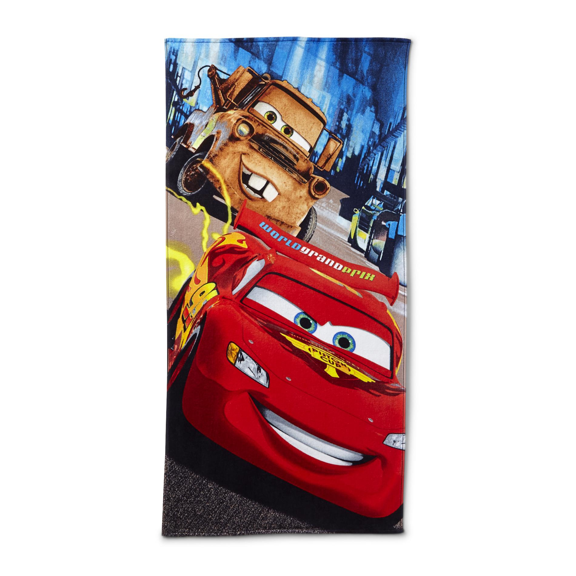 Cars Beach Towel - Lightning McQueen & Mater
