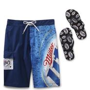 Miller Lite Men's Swim Trunks & Flip-Flops at Kmart.com