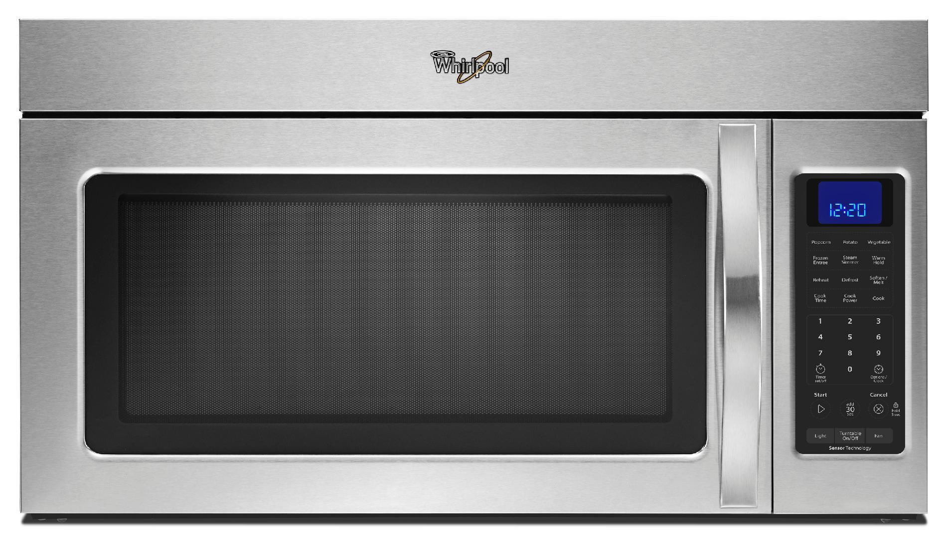 WMH32519CS-1-9-cu-ft-Over-the-Range-Microwave-w-Steam-Cooking-Stainless-Steel