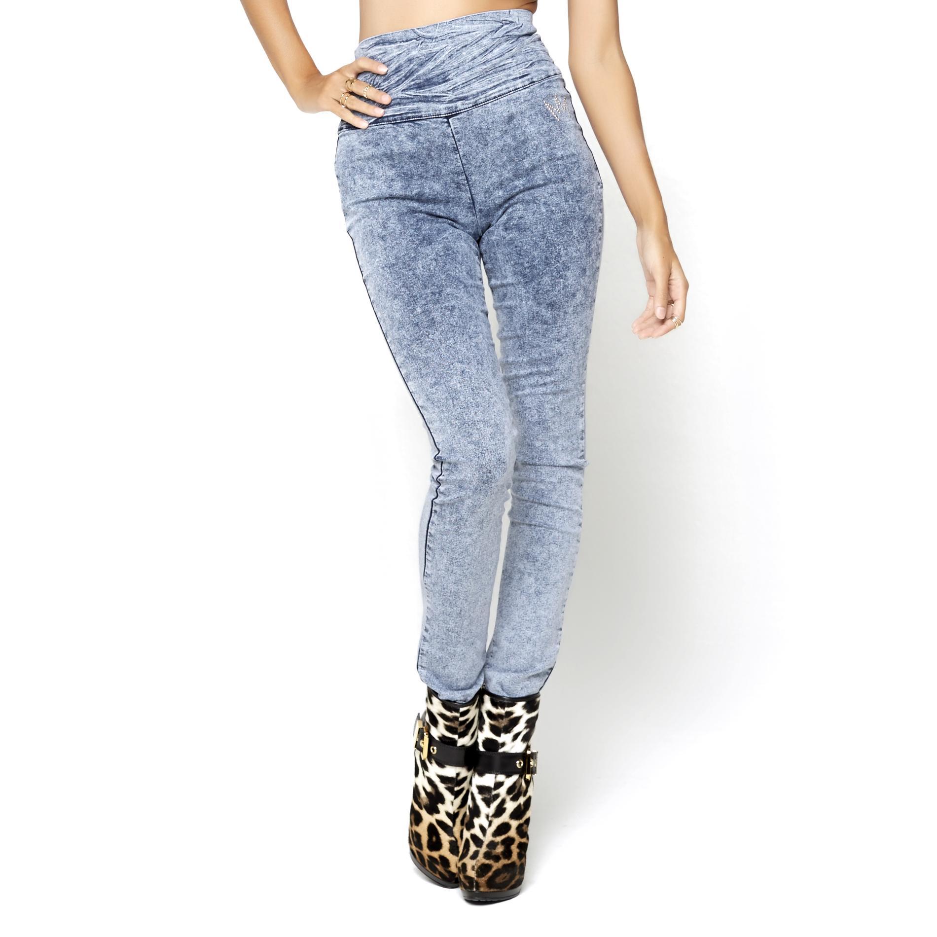 Nicki Minaj Women's High Rise Denim Leggings at Kmart.com
