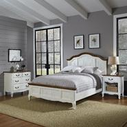 Home Styles Oak and Rubbed White French Countryside Queen Bed, Night Stand, and Chest at Kmart.com
