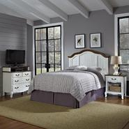 Home Styles Oak and Rubbed White French Countryside Full/Queen Headboard, Night Stand, and Media Chest at Kmart.com