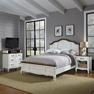 Home Styles Oak and Rubbed White French Countryside Queen Bed, Night Stand, and Media Chest at Kmart.com