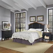 Home Styles Oak and Rubbed Black French Countryside Full/Queen Headboard, Night Stand, and Chest at Kmart.com
