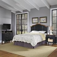 Home Styles Oak and Rubbed Black French Countryside Full/Queen Headboard, Night Stand, and Media Chest at Kmart.com