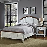 Home Styles Oak and Rubbed White French Countryside King Bed and Night Stand at Kmart.com
