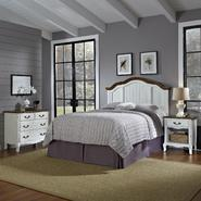 Home Styles Oak and Rubbed White French Countryside King/California King Headboard, Night Stand, and Chest at Kmart.com