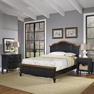Home Styles Oak and Rubbed Black French Countryside King Bed, Night Stand, and Chest at Kmart.com