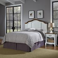 Home Styles Oak and Rubbed White French Countryside Full/Queen Headboard and Night Stand at Kmart.com