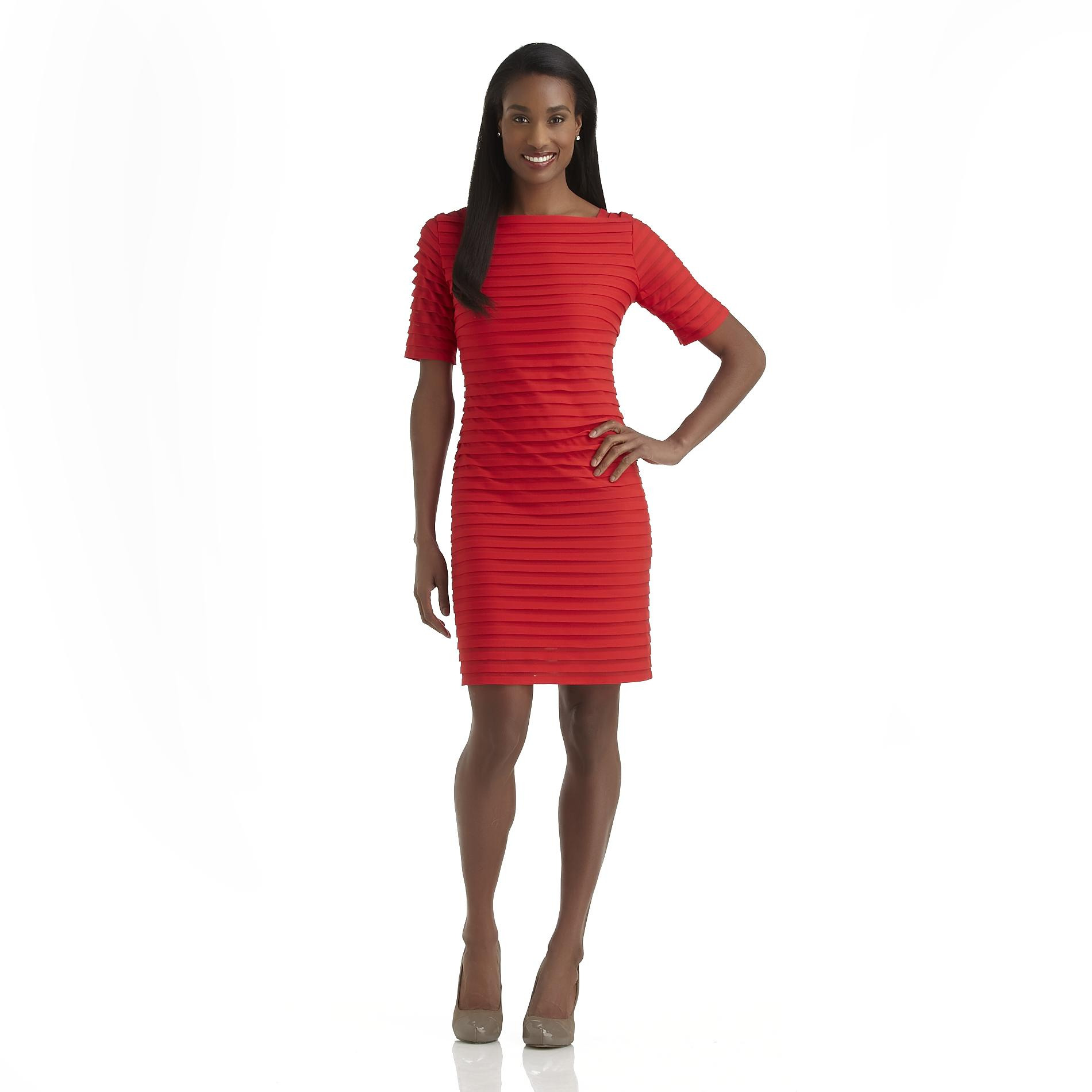 Studio 1 Women's Shutter Pleated Short-Sleeve Dress at Sears.com