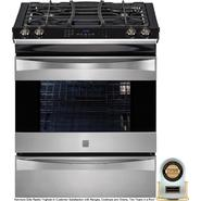 "Kenmore Elite 30"" Slide-In Gas Range - Stainless Steel at Sears.com"